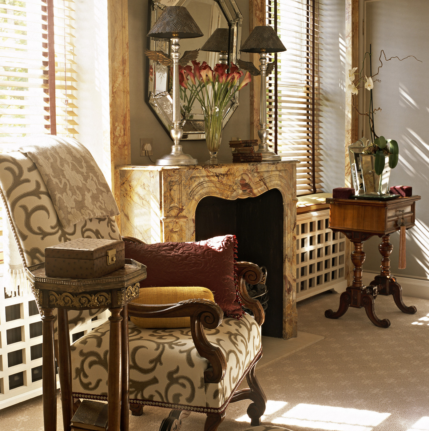 Brown Traditional Living Room  Living Room Design Ideas