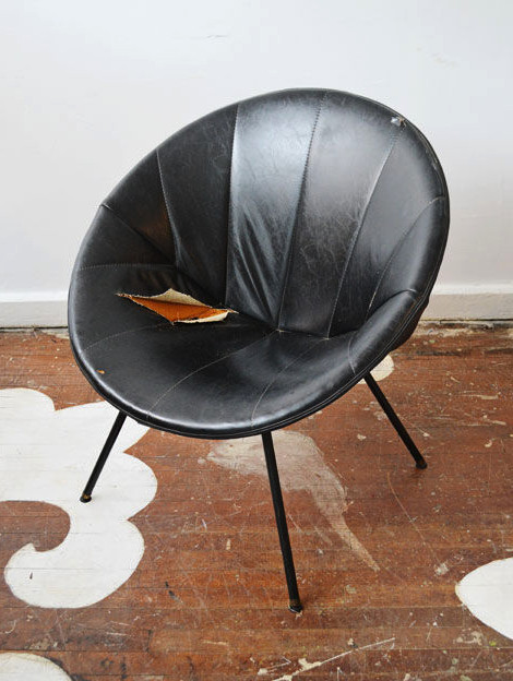 The Saucer Chair Makeover  Lonny