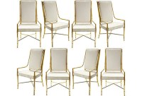 Vintage Suede and Brass Dining Chairs - Aerin Lauder's One ...