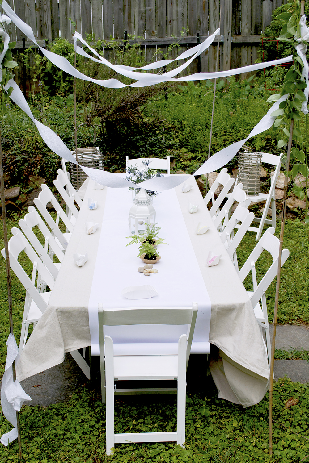 wooden folding chairs for rent recliner chair cushions outdoor the kids' table grows up: how to decorate your son or daughter's party - family living 2014 ...