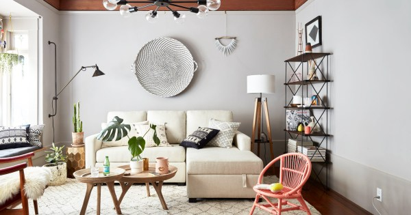 small space living room makeover A Lonny Editor's Small Space Makeover With Pottery Barn - Small Spaces - Lonny