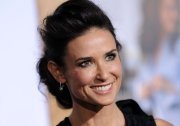 demi moore messy updo