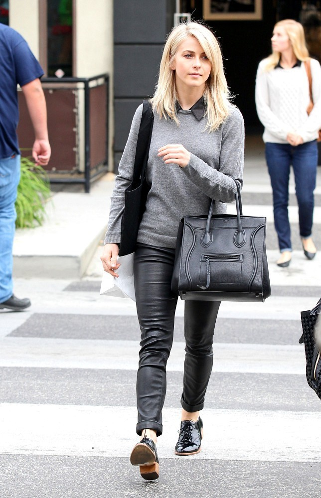 Julianne Hough Leather Tote  Leather Tote Lookbook