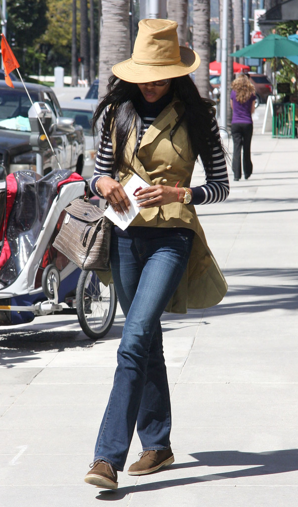Naomi Campbell Bootcut Jeans  Naomi Campbell Looks  StyleBistro