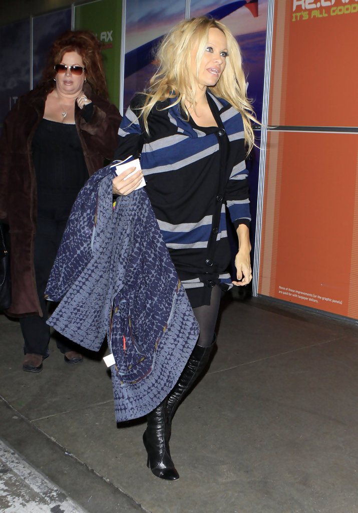 More Pics of Pamela Anderson Over the Knee Boots 5 of 18  Pamela Anderson Lookbook  StyleBistro