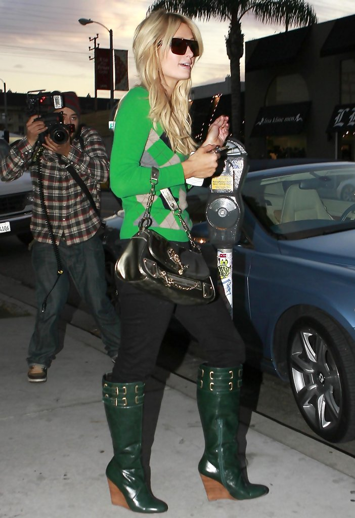 Paris Hilton Wedge Boots  Paris Hilton Looks  StyleBistro