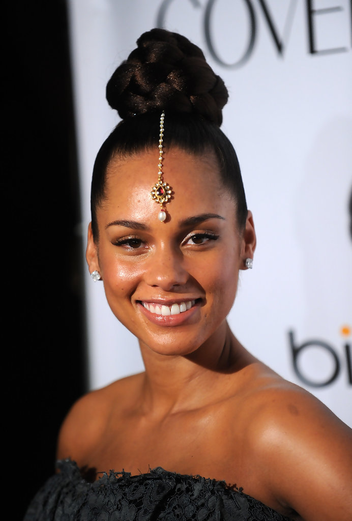 Alicia Keys Braided Bun  Alicia Keys Hair Looks  StyleBistro