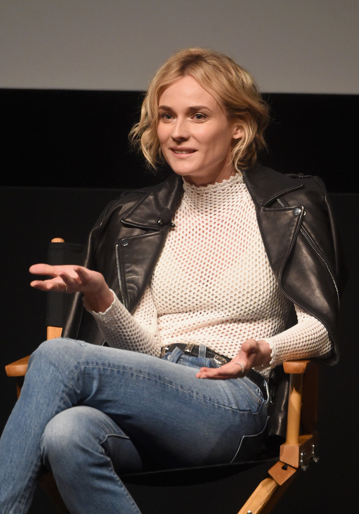 Diane Kruger Leather Jacket  Diane Kruger Looks  StyleBistro