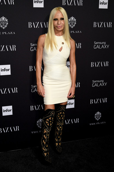 Image result for donatella versace short skirt