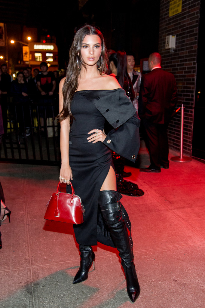 Emily Ratajkowski Over The Knee Boots Over The Knee