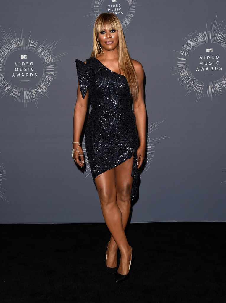 Laverne Cox One Shoulder Dress  Laverne Cox Looks  StyleBistro