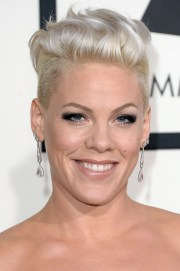 pink fauxhawk - short hairstyles