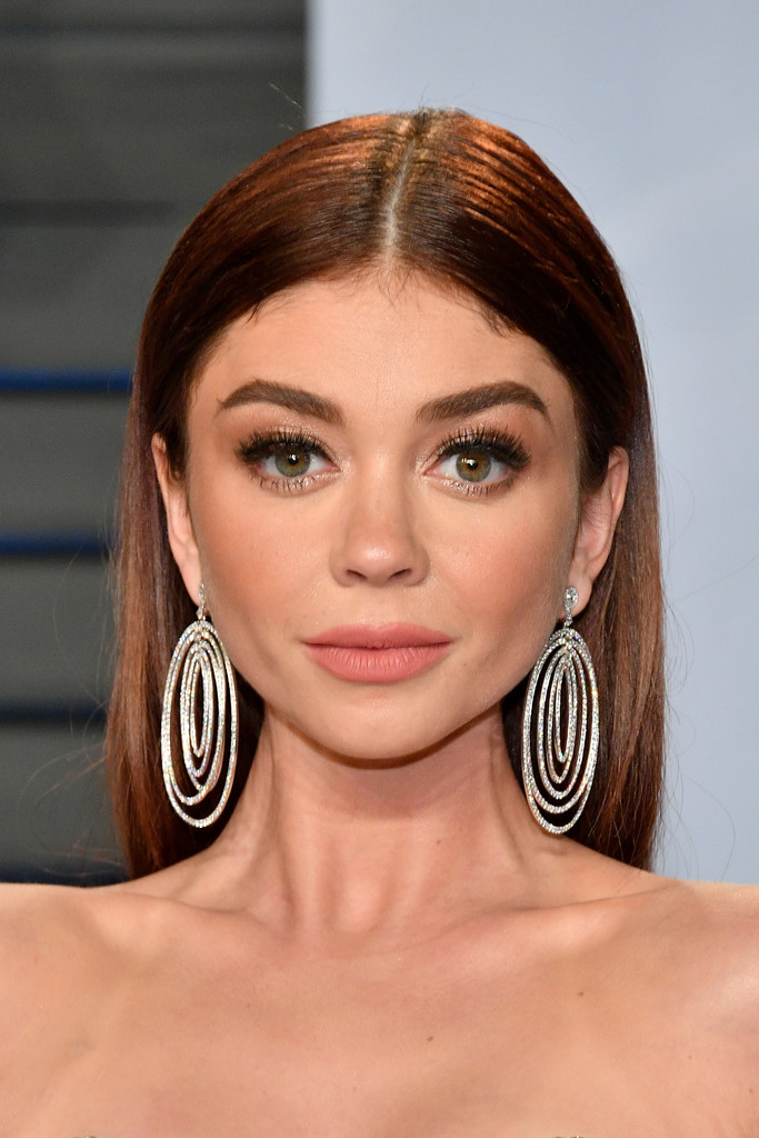 Sarah Hyland Long Straight Cut Hair Lookbook StyleBistro