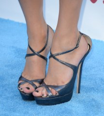 Taylor Swift Strappy Sandals - Heels Lookbook Stylebistro