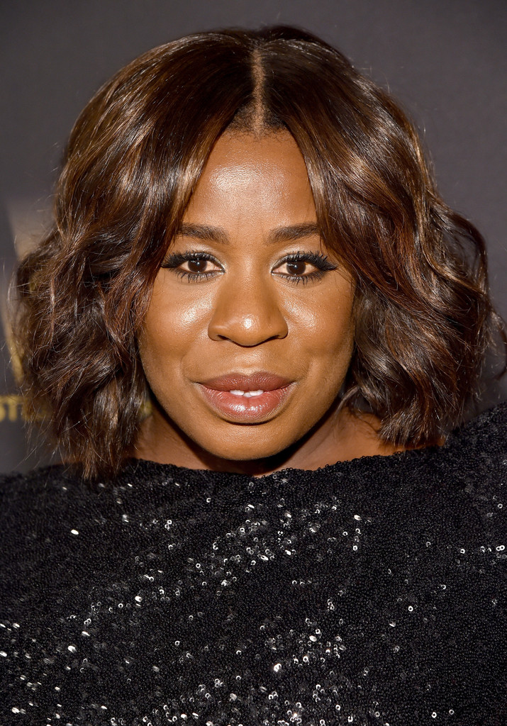 Uzo Aduba Short Wavy Cut Short Hairstyles Lookbook