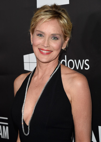 Sharon Stones Classic Updo Haute Hairstyles For Women