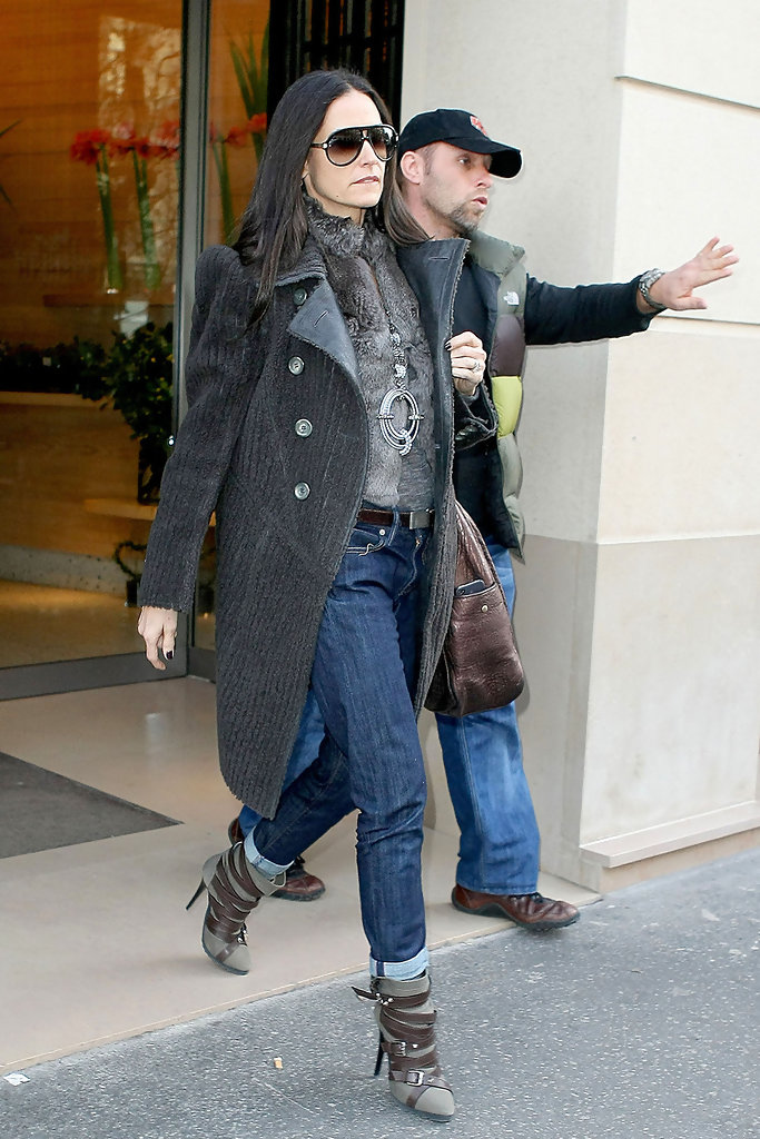 Demi Moore Wool Coat Demi Moore Clothes Looks StyleBistro