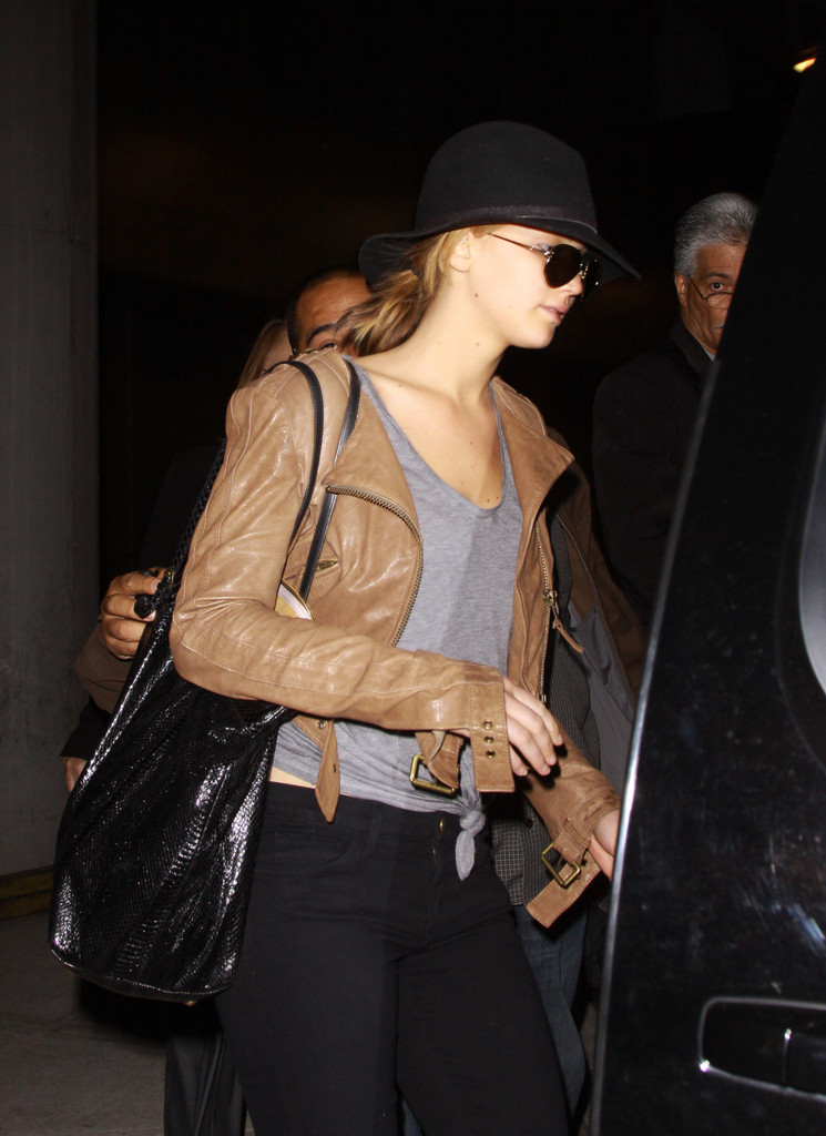 Jennifer Lawrence Leather Jacket  Jennifer Lawrence