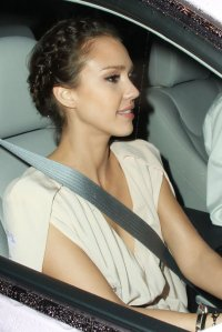 Jessica Alba Braided Bun - Braided Bun Lookbook - StyleBistro