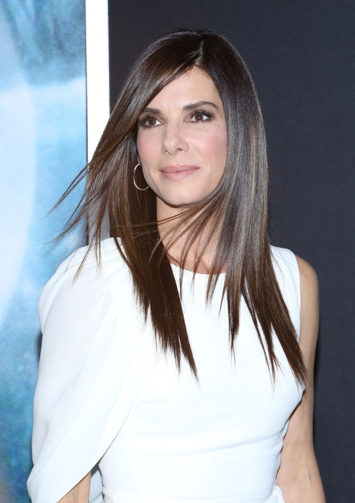 Sandra Bullock Smooth Strands The Straightest Celebrity