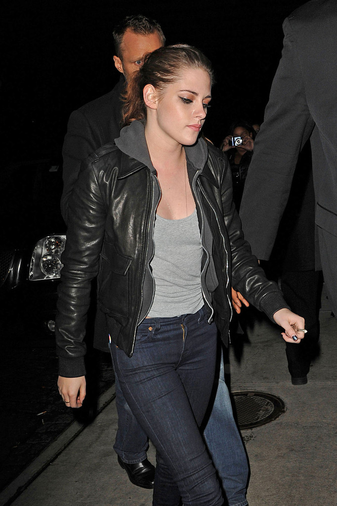 Kristen Stewart Leather Jacket  Kristen Stewart Looks  StyleBistro