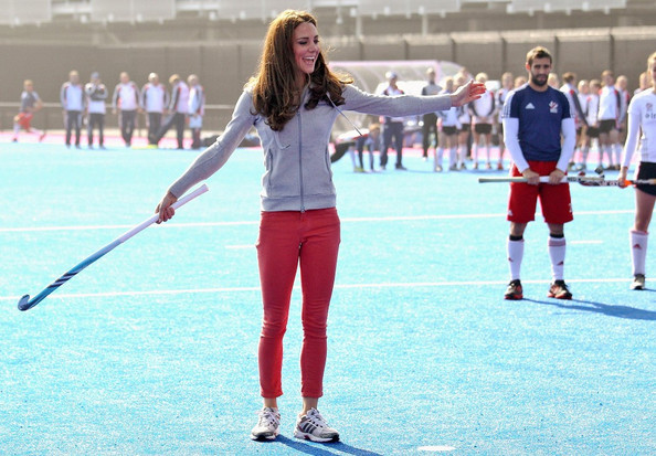 Kate Middleton Takes a Whack at Field Hockey
