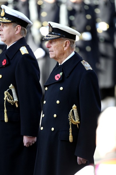 11th November, 2012:  The Remembrance service at The Cenotaph in London today. Among those attending, The Duke of Edinburgh who laid a wreath.