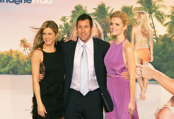 """Adam Sandler Jennifer Aniston, Adam Sandler and Brooklyn Decker arrive at the """"Just Go With It"""" Germany premiere in Berlin."""