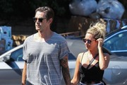 Newly weds Ashley Tisdale and Christopher French stop by Whole Foods in Studio City, California on September 21, 2014. After getting married on September 8, the couple snuck away on a honeymoon to Bora Bora after it was reveled by Ashley via instagram.