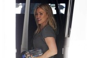 Singer and actress Hilary Duff heads to the gym in West Hollywood, California on December 26, 2014. Hilary is wasting no time hitting the gym after celebrating Christmas with her estranged husband Mike Comrie and their two year old son Luca.