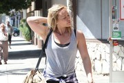 Singer and actress Hilary Duff goes to a dance class in West Hollywood, California on September 3, 2014. It is being reported that Hilary's still untitled comeback album will be released on October 18th.