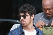 Singer Joe Jonas is seen leaving King's Road Cafe in West Hollywood, California after enjoying lunch on January 28, 2015. Joe, who is sporting a much shaggier look these days, is reportedly dating someone new after recently breaking up with longtime girlfriend Blanda Eggenschwiler.