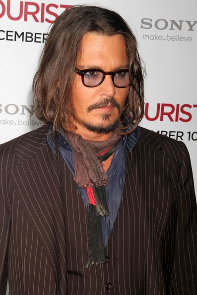 "Johnny Depp Celebrities at the premiere of ""The Tourist"" at the Ziegfeld"