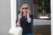 'Wild' actress is seen leaving her office in Beverly Hills, California on February 17, 2015.  On Sunday the mother of three is headed to the Academy Awards where she has been nominated for best actress in a leading role for her work in 'Wild.'