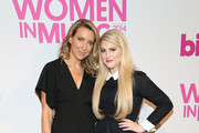 Ty Stiklorius (L) and Meghan Trainor attend the 2014 Billboard Women In Music Luncheon at Cipriani Wall Street on December 12, 2014 in New York City.