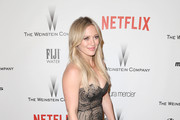Actress Hilary Duff attends the 2015 Weinstein Company and Netflix Golden Globes After Party at Robinsons May Lot on January 11, 2015 in Beverly Hills, California.