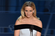 Actress Reese Witherspoon presents onstage during the 87th Annual Academy Awards at Dolby Theatre on February 22, 2015 in Hollywood, California.