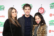 "Actors Maia Mitchell, David Lambert and Cierra Ramirez attend ABC's ""25 Days Of Christmas"" Celebration at Cucina at Rockerfellar Center on December 7, 2014 in New York City."