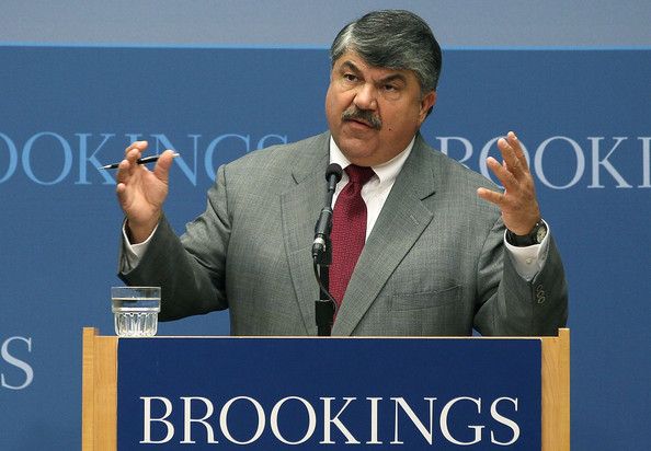 AFL-CIO President Richard Trumka speaks about jobs at the Brookings Institution September 30, 2011 in Washington, DC. Trumka talked about a range of proposals now before Congress that are intended to create new jobs.
