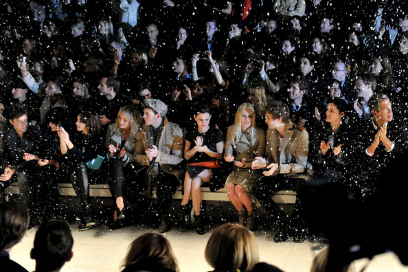 Alexa Chung - Burberry Prorsum Runway - LFW Autumn/Winter 2011