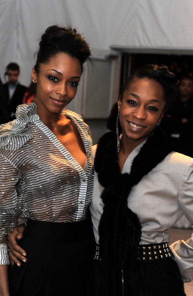 Yaya DaCosta Actor Yaya DaCosta and dancer Jocey Dacosta Johnson attend Mercedes-Benz Fashion Week at Bryant Park on February 18, 2010 in New York City.