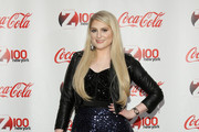 Meghan Trainor attends Z100 & Coca-Cola All Access Lounge at Z100's Jingle Ball 2014 pre-show at Hammerstein Ballroom on December 12, 2014 in New York City.