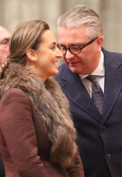 Princess Claire and Prince Laurent of Belgium attend the Te Deum on King's Day at Cathedrale des Saints-Michel-et-Gudule on November 15, 2012 in Brussels, Belgium.