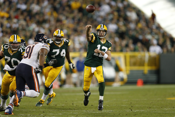 Image result for aaron rodgers vs bears