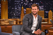 "Chris Hemsworth Visits ""The Tonight Show Starring Jimmy Fallon"" at Rockefeller Center on January 13, 2015 in New York City."