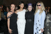 (L-R) Juliette Lewis, Zendaya, Kelly Osbourne, and Kesha attend the Christian Siriano Fashion Show at ArtBeam on February 14, 2015 in New York City.