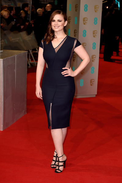 Hayley Atwell attends the EE British Academy Film Awards at The Royal Opera House on February 8, 2015 in London, England.