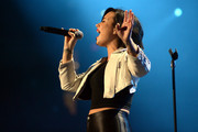 Demi Lovato performs onstage during 93.3 FLZÂ's Jingle Ball 2014 at Amalie Arena on December 22, 2014 in Tampa, Florida.