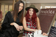 Actress Jillian Rose Reed (R) and guest attend the HBO Luxury Lounge featuring PANDORA Jewelry at Four Seasons Hotel Los Angeles at Beverly Hills on January 10, 2015 in Beverly Hills, California.