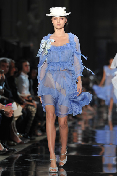 Miranda+Kerr in John Galliano: Runway - Paris Fashion Week Spring / Summer 2012
